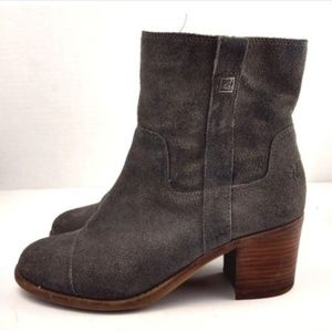 Sperry Topsider grey suede Helena ankle boots 7
